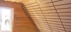 Утепление мансарды в доме из бруса