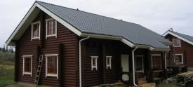 Рубленый дом из бревна