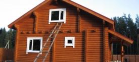 Изготовление домов из бревна