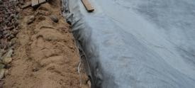 Строительство пруда из пленки