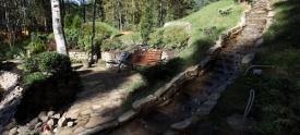 Благоустройство участка. Водопад