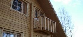Финский дом с балконом